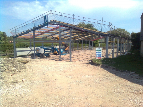 Stables during construction at Headley Stud - Industrial Construction in Berkshire - Greenham Construction