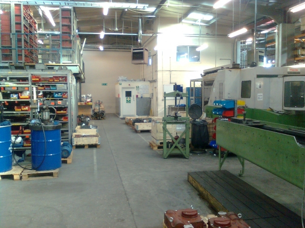 Inside Opperman Master Gear premises after construction by Greenham Construction - Industrial Construction in Berkshire