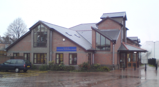 External of commercial construction in Berskhire (Thatcham Baptist Church) after construction by Greenham Construction