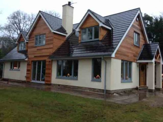 Glade cottage after completion - Construction by Greenham Construction