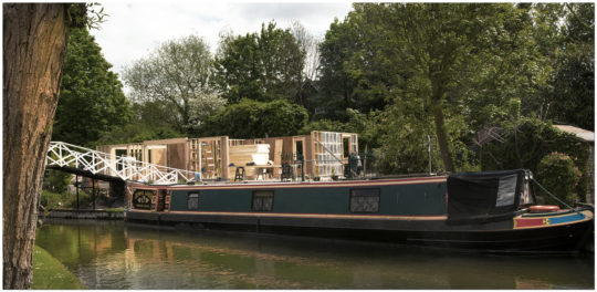 Greenham Lock Cottage during construction by Greenham Construction
