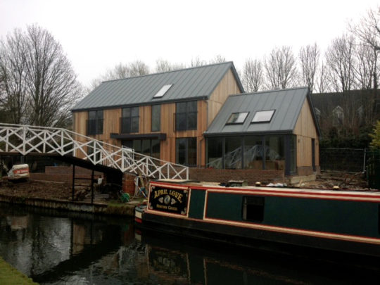 Greenham Lock cottage after construction by Greenham Construction